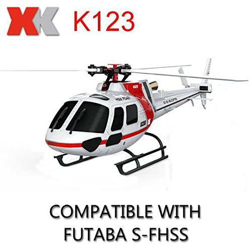 XK K123 RC Helicopter AS350 6CH Flybarless RC Helicopter