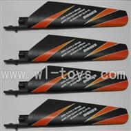 WLtoys V911 Main blades,Main rotor blades,Propellers-(4pcs)-Orange