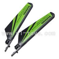 WLtoys V911 Main blades,Main rotor blades,Propellers-(2pcs)-Green