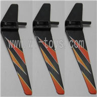 WLtoys V911 Vertical wing (3pcs)-Orange