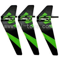 WLtoys V911 Vertical wing(3pcs)-Green
