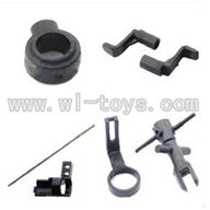 WLtoys V911 Tail Boom Set with head & Main Blade Holder & (Fixing Collar & Centra axis & wheel)