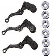 WLtoys V931 Parts-Main grip set(3pcs) & link rod for the main grip set (3pcs) & Bearing(6pcs),WLtoys AS350 Parts