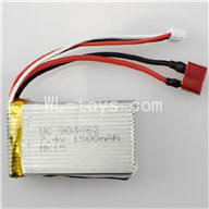 WLtoys L959 7.4v 1500mah battery with T shape Plug(be used for L202)