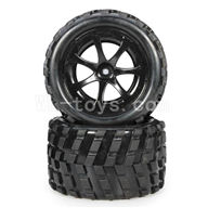 WLtoys L969 RC Buggy Rear Tire Parts-2pcs,Wltoys L969 Parts