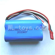 Wltoys L969 Upgrade 2200mAh-7.4v-Red-JST-Plug-Battery(Can only be used for L959)