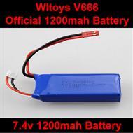 WLtoys V666 Official 7.4v 1200mah battery Parts,Wltoys V666 Quadcopter Parts