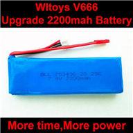 WLtoys V666 Upgrade Battery-7.4v 2200mah battery akku Parts,Wltoys V666 Quadcopter Parts