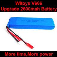 WLtoys V666 Upgrade Battery-7.4V 2600mah battery akku Parts,Wltoys V666 Quadcopter Parts