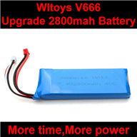 WLtoys V666 Upgrade Battery-7.4v 2800mAH battery 40c Parts,Wltoys V666 Quadcopter Parts