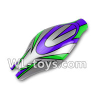 WLtoys V666 Canopy Parts,Head cover,body shell cover-(Green&Purple&Gray)