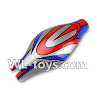 WLtoys V666 Canopy Parts,Head cover,body shell cover(Red&Blue& Gray)