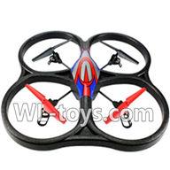 WLtoys V666 V666 Quadcopter BNF(Only Quadcopter Body,No battery,No transmitter,No charger)-Red&Blue