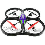 WLtoys V666 V666 Quadcopter BNF(Only Quadcopter Body,No battery,No transmitter,No charger)-Green&Purple