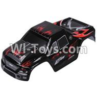 Wltoys A979 Body shell cover Parts,Car canopy,Shell cover-Black,Wltoys A979 Parts