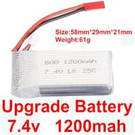 Wltoys A959 Upgrade 1200mah battery-(Both be suit for Wltoys A959 A959B)