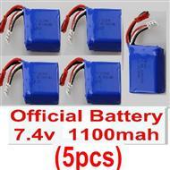 Wltoys A959 Battery-Official 7.4v 1100mah battery(5pcs)Parts,(Both for A959 A959B)
