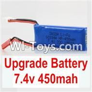 Wltoys K989 Upgrade Battery-Upgrade 7.4V 450MAH Battery,Wltoys K989 Parts