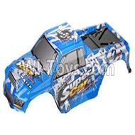 Wltoys 12402-0303 big foot car shells,Car canopy,Shell cover,Car canopy,Shell cover Parts,Wltoys 12402 Parts