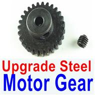 Wltoys A979-B A979B Upgrade Steel motor Gear(1pcs)-0.7 Modulus-Black-27 Teeth,Wltoys A979B A979-B Parts