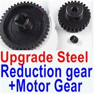 Wltoys A979-B A979B Upgrade Steel Reduction gear + Upgrade Steel motor gear,Wltoys A979B A979-B Parts