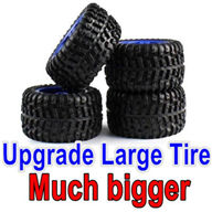 Wltoys 12428 Upgrade Tires-large Much biger,can be used for 12428 car or with Lengthened combiner-12mm