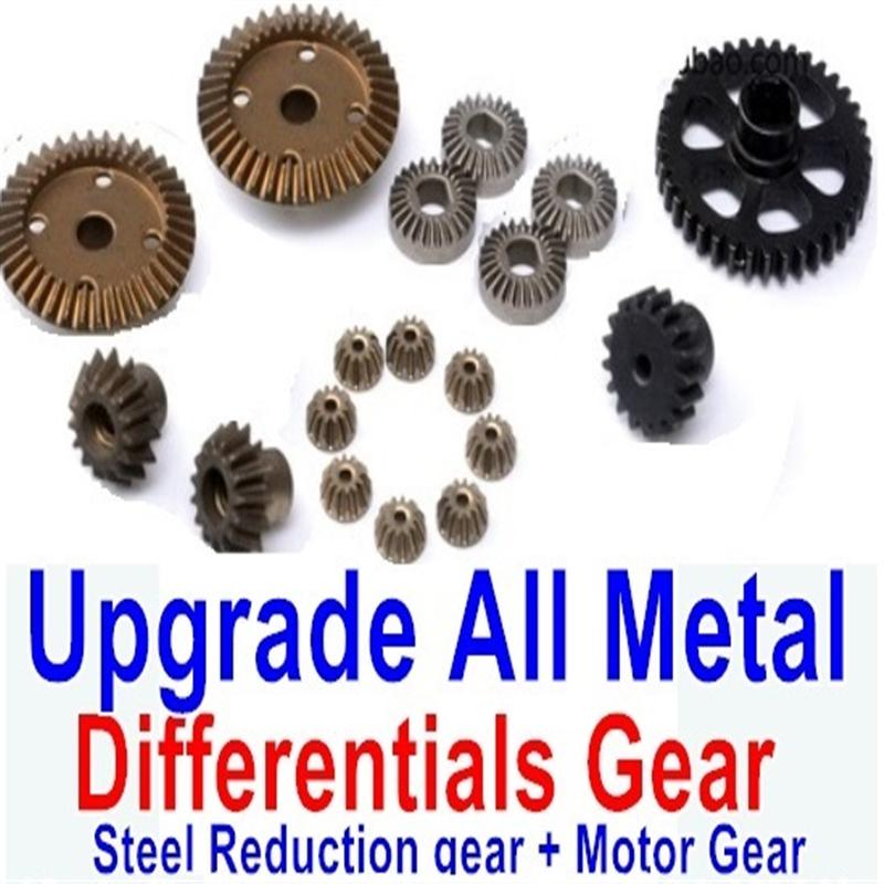 Wltoys A979 A979B A979-B Upgrade All Metal Differentials Gear + Steel Reduction gear + Motor Gear(Only For A979 A979B A979-B)
