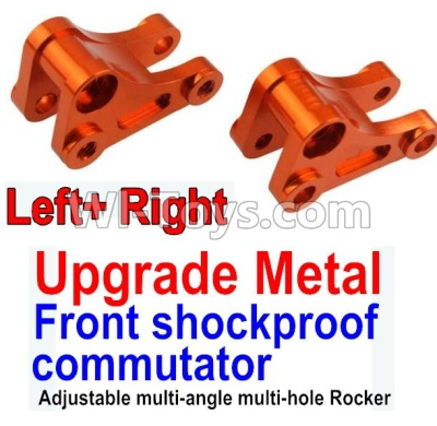 Wltoys 10428-B Upgrade Metal Front shockproof commutator(Left and Right)-Orange